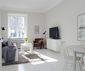 Clean white 57 square meters apartment