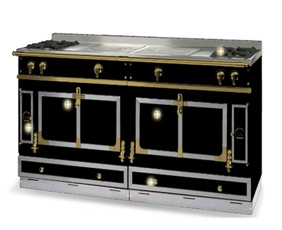 m moire wood cabinetry from la cornue. Black Bedroom Furniture Sets. Home Design Ideas