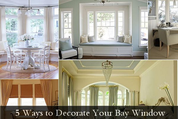 5 ways to decorate your bay window How to decorate windows