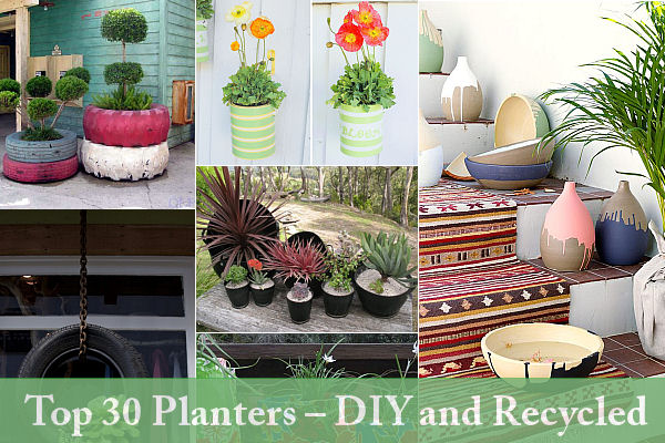 . Top 30 Planters   DIY and Recycled