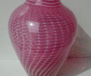 Superb Raymond Nelson Pink Swirl Vase Nice Design