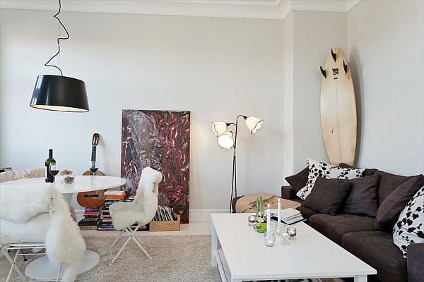 Tiny apartment renovation featuring white walls for White wall decorations living room