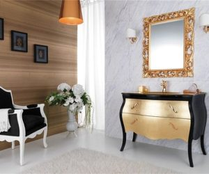 Another gold finishes washbasin unit from Legnobagno