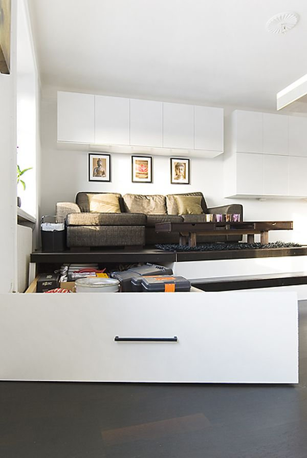 Tiny Apartment With Ingenious Storage Solutions