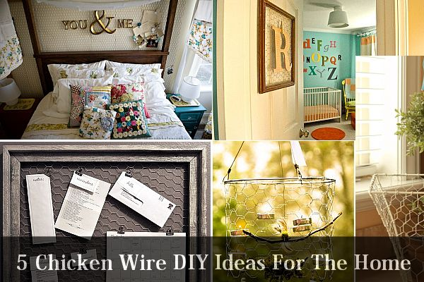 5 chicken wire diy ideas for the home Diy home interior design ideas