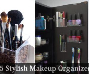 5 Stylish Makeup Organizers