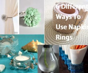DIY Floral Napkin Rings · 6 Different Ways To Use Napkin Rings