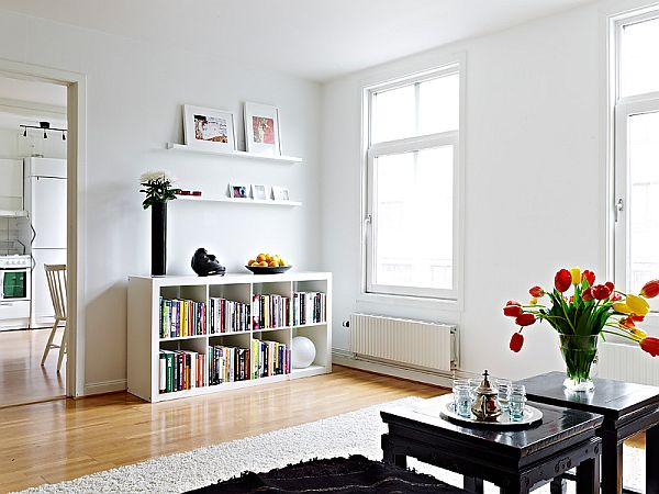 Scandinavian Apartments Cozy Scandinavian Apartment With A Strong Eye Catching Paint Above .