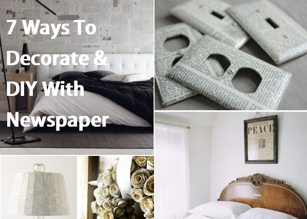 7 ways to decorate amp diy with newspaper