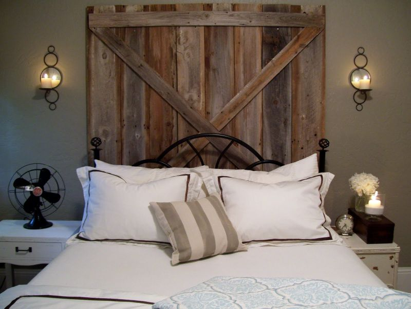 Barn door master bedroom design