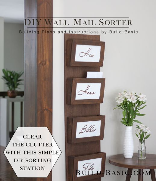 Daily mail sorter from wood