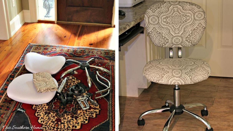 Desk chair makeover design