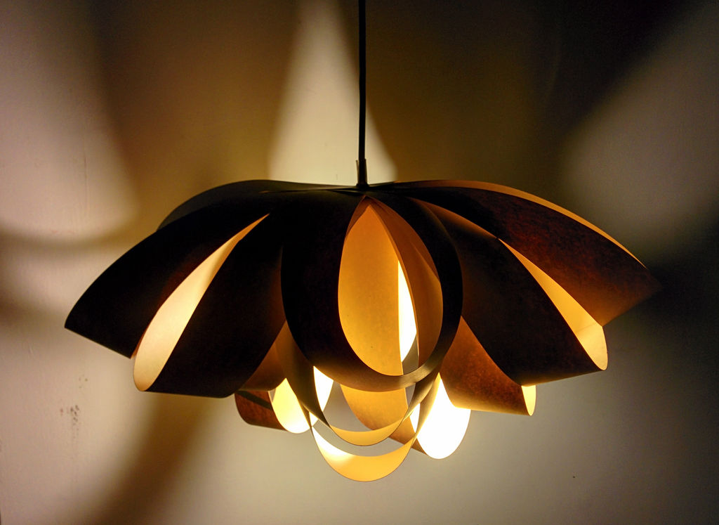 Giant decorative bow paper lamp