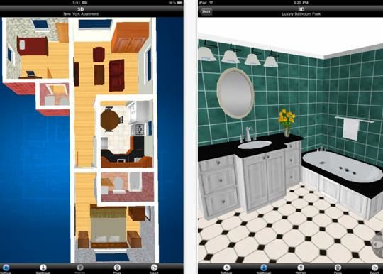 7 tablet apps for the interior designer in you for Room design 3d app
