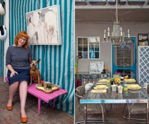 Interior designer Leslie Landis mid-century studio in LA
