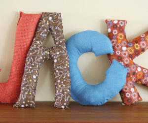 Nice ... How To Make Alphabet Pillows For Customized Interiors