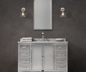 The 1930s Laboratory Bathroom Collection by Restoration Hardware