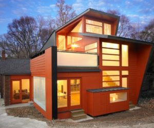 Orange Facade Lavorgna Residence in Atlanta