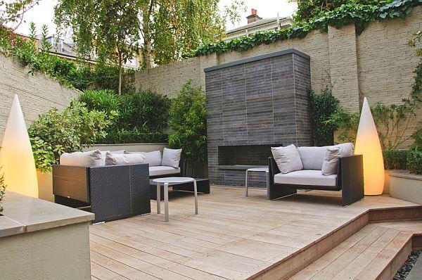 Modern townhouse in england with garden space for Pisos de patios modernos