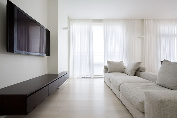 Minimalist open space apartment in moscow - Comfortable beds for small spaces minimalist ...