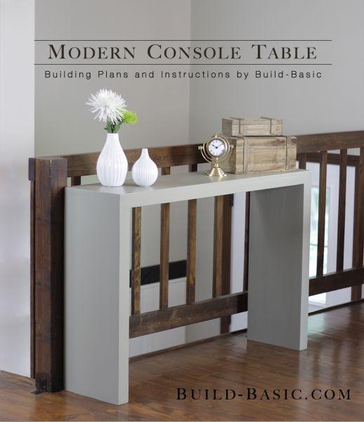 Modern Entryway console DIY