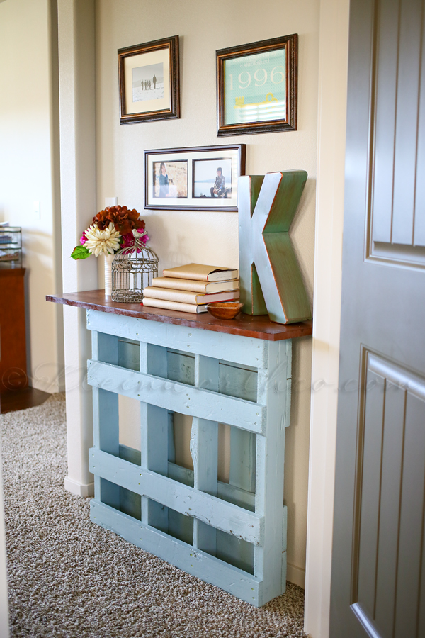 nice Diy Narrow Table Part - 7: Pallet console table narrow design