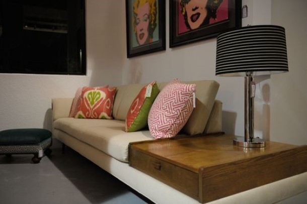 update sectional sofa Place Tables Or Shelves In The Middle Of Your Sectional