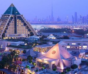 The Luxurious Pyramid Raffles Dubai Hotel
