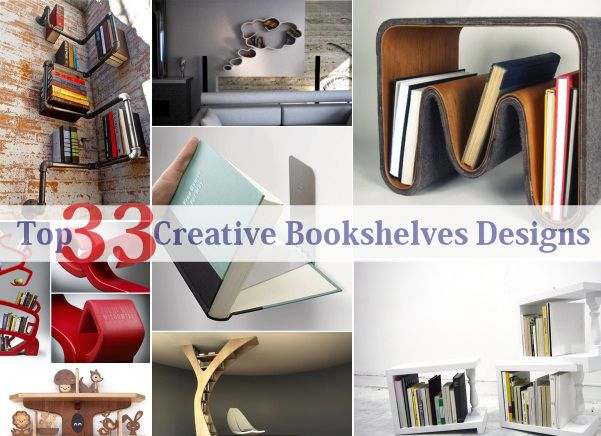 Marvelous Top 33 Creative Bookshelves Designs