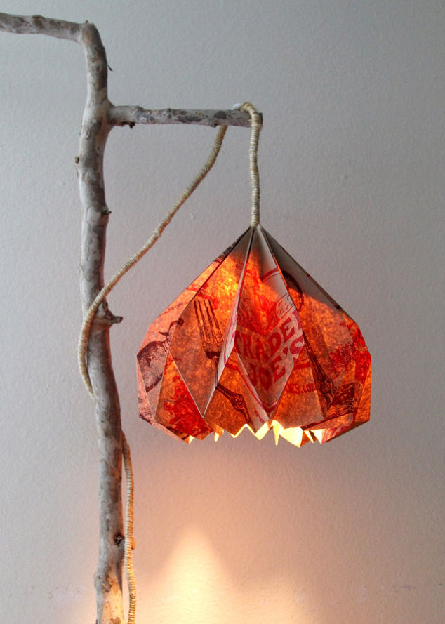 Trader joes grocery bag lamp