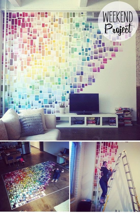 Transform your wall into a colorful art work