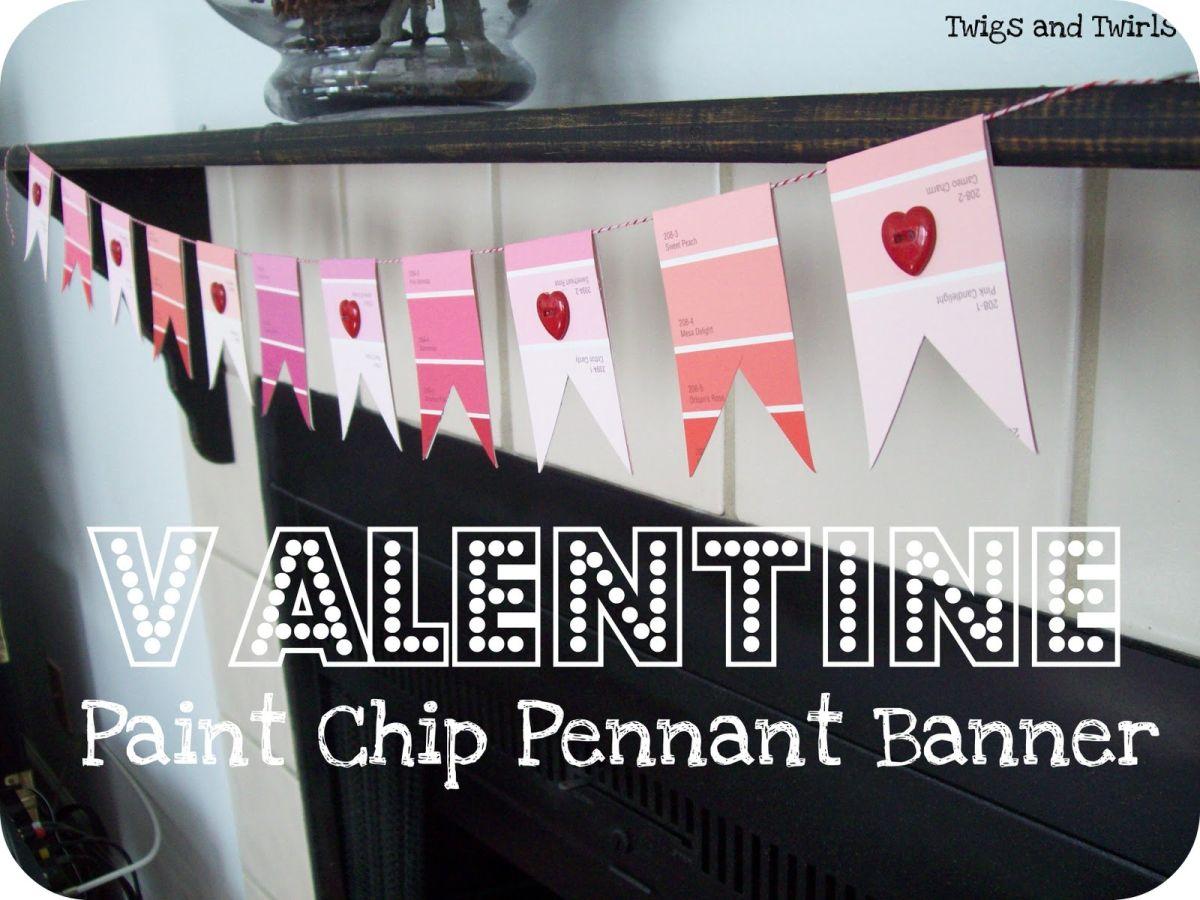 Valentine paint chip banner