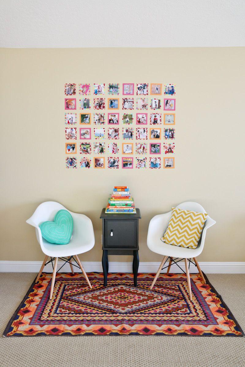 Washi tape instagram wall decor