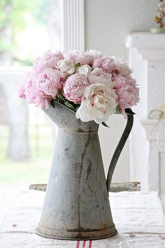 Watering can flower vase