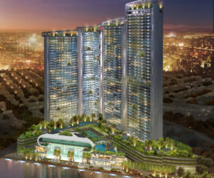 The Acqua Livingstone condominium tower in Manila