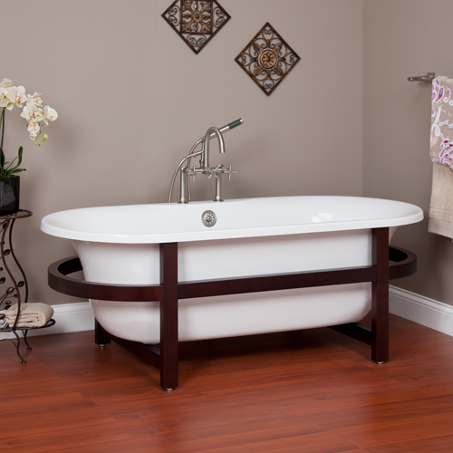 Simply stylish acrylic double ended tub