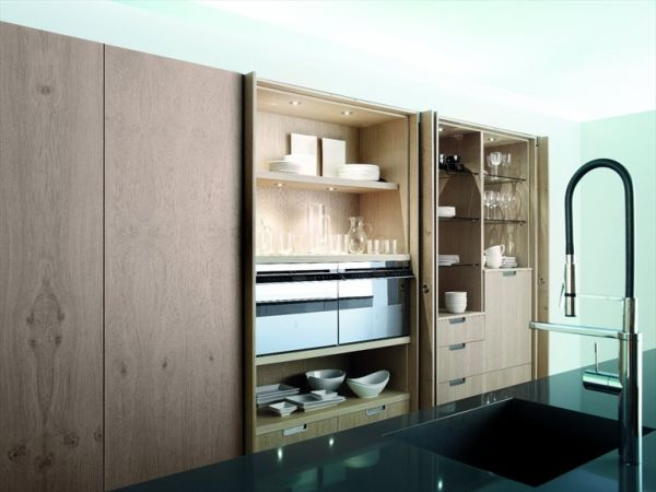 retractable kitchen cabinet doors the aero glass kitchen with island by mobalco 25552