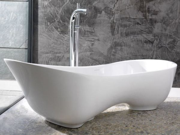most comfortable freestanding tub.  Asymmetric Bathtub From Cabrits