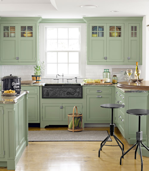 Olive And Blue Kitchen: How To Decorate A Beach House