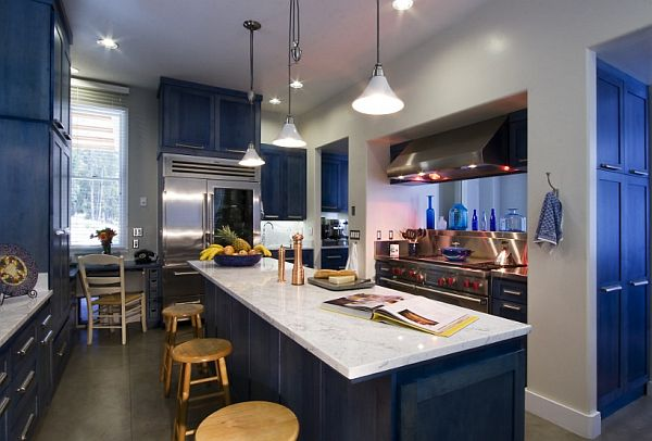 blue kitchen colors. View in gallery  A very common color for the kitchen is blue What should I paint my