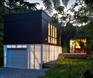 Contemporary family box house in New Zeeland