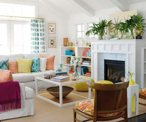 Bright and colorful holiday home