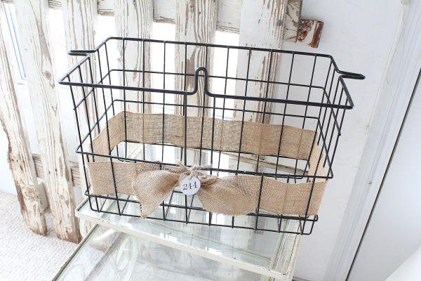 burlap-tied-metal-basket