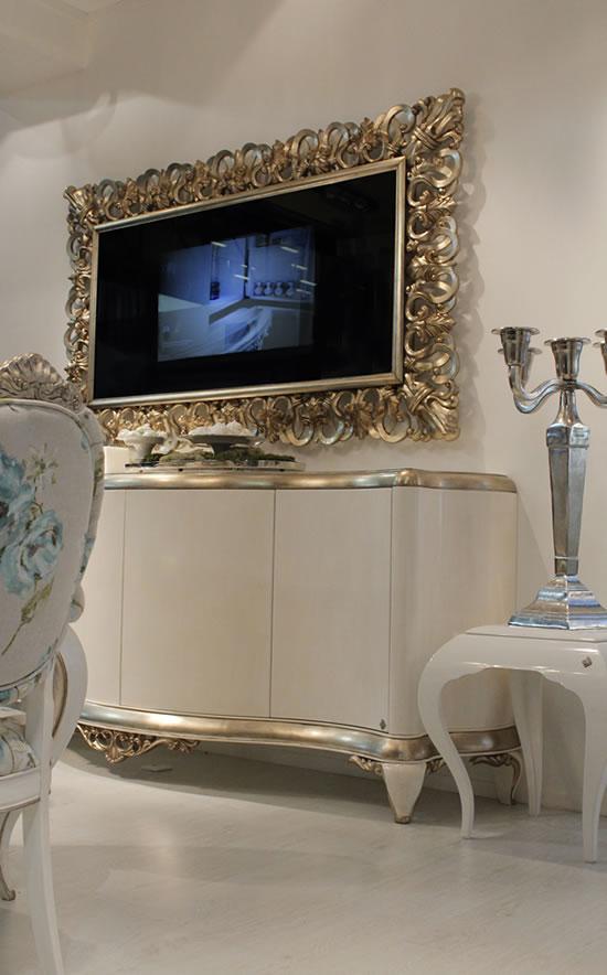 capri mirror frame with tv unveiled at milan design week. Black Bedroom Furniture Sets. Home Design Ideas