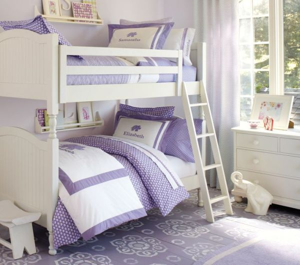 Bedroom Teenage Small Girls Room Purple Large Size: Comfortable And Protective Catalina Bunk Bed