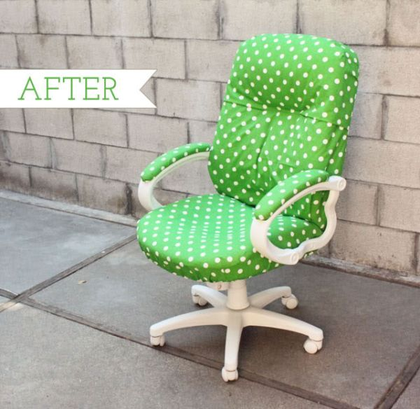 Charming Chic And Colorful Desk Chair Makeovers For DIY Lovers