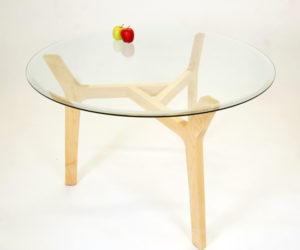 Glass Top Nina Table by Phil Proctor