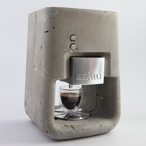 Challenging Concrete Espresso Solo Machine