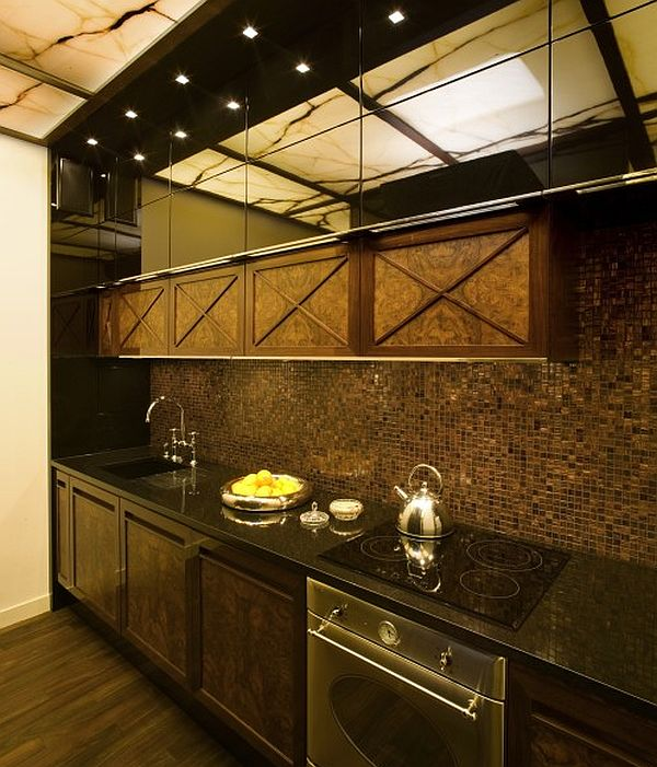 Contemporary apartment with oriental and spanish accents for Oriental kitchen design