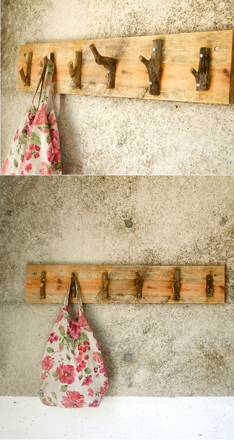 Diy Household Hooks From Dead Tree Branches